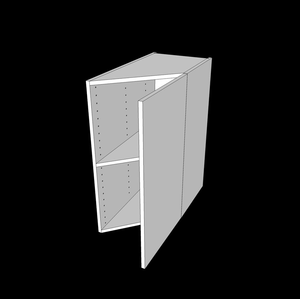 Image of   Skråskab 45° H: 70,4 cm D: 60,0 cm - En hylde