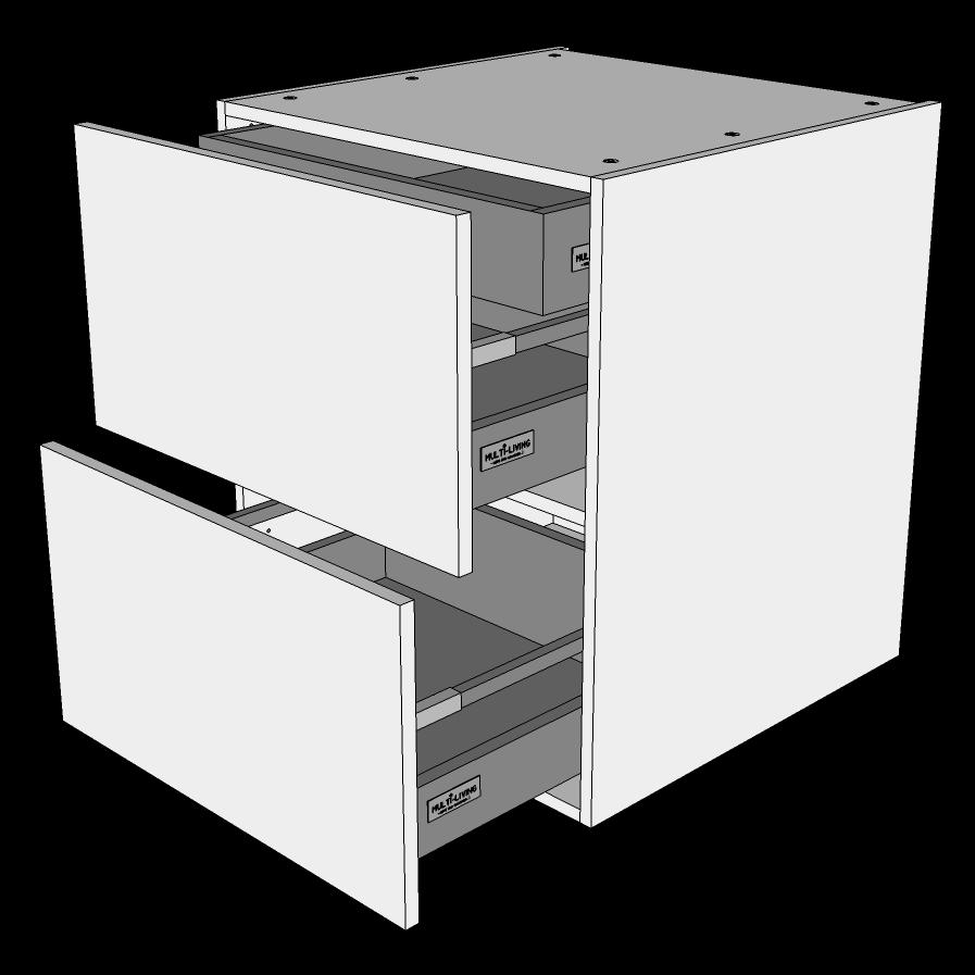 Image of   Skuffeskab H: 70,4 cm D: 60,0 cm - 2 skuffer + indvendig bakke