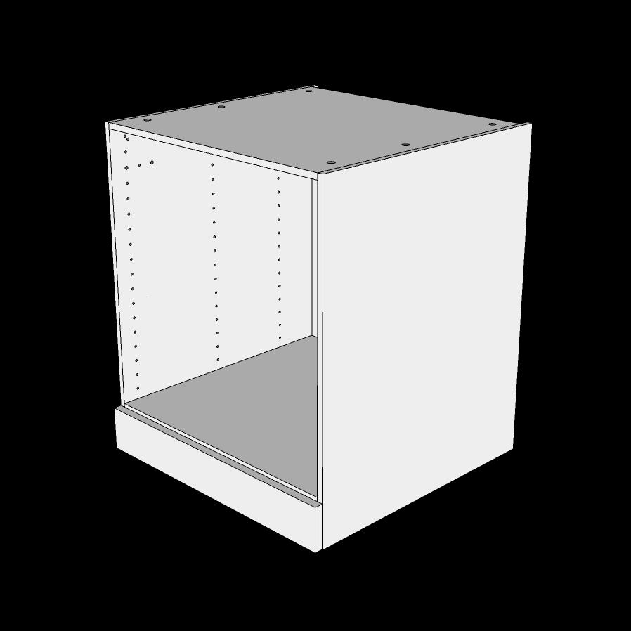Image of   Ovnskab til indbygningsovn H: 70,4 cm D: 60,0 cm - Deludtræk/softluk