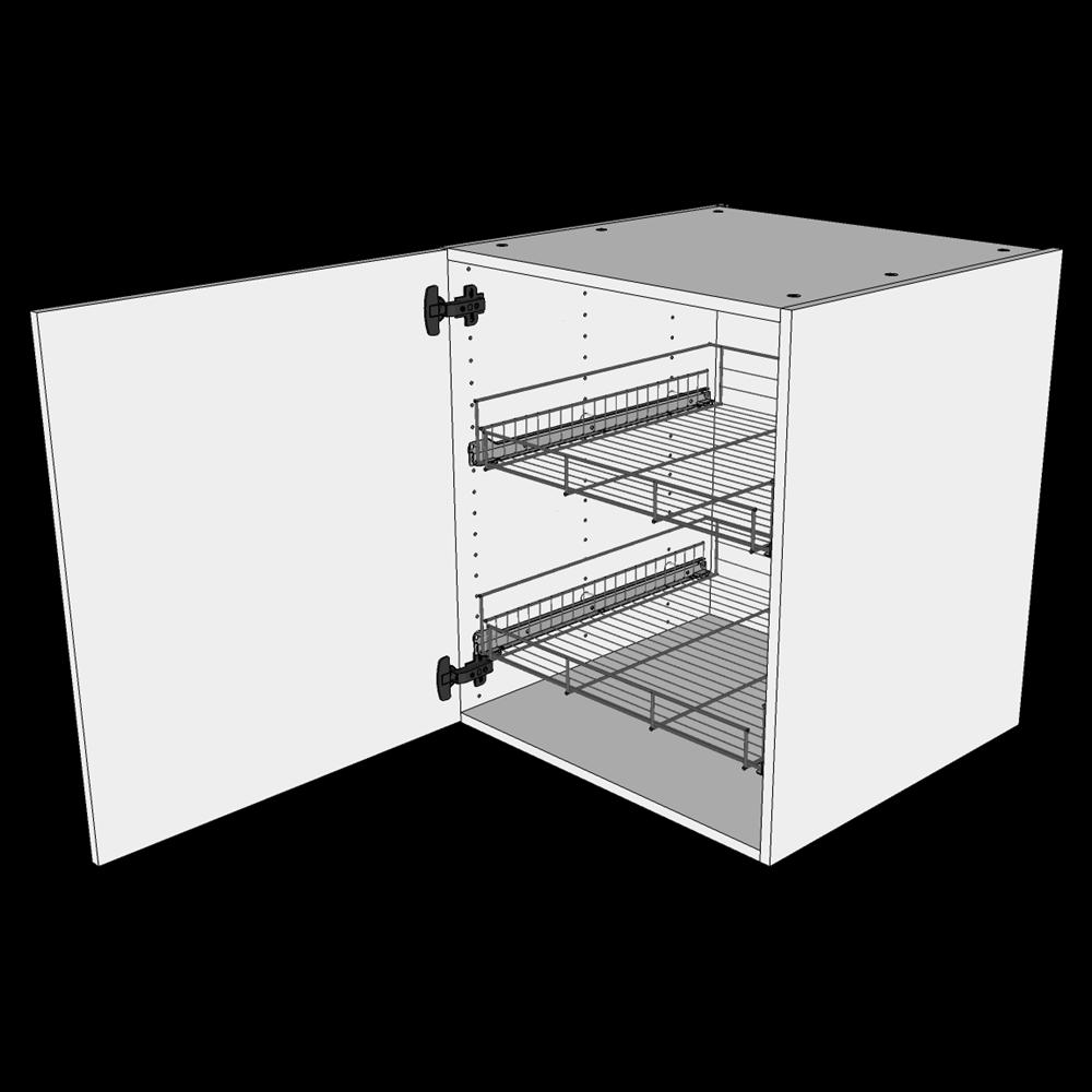 Image of   Grydeskab underskab H: 70,4 cm D: 60,0 cm - Inklusiv 2 udtræksriste