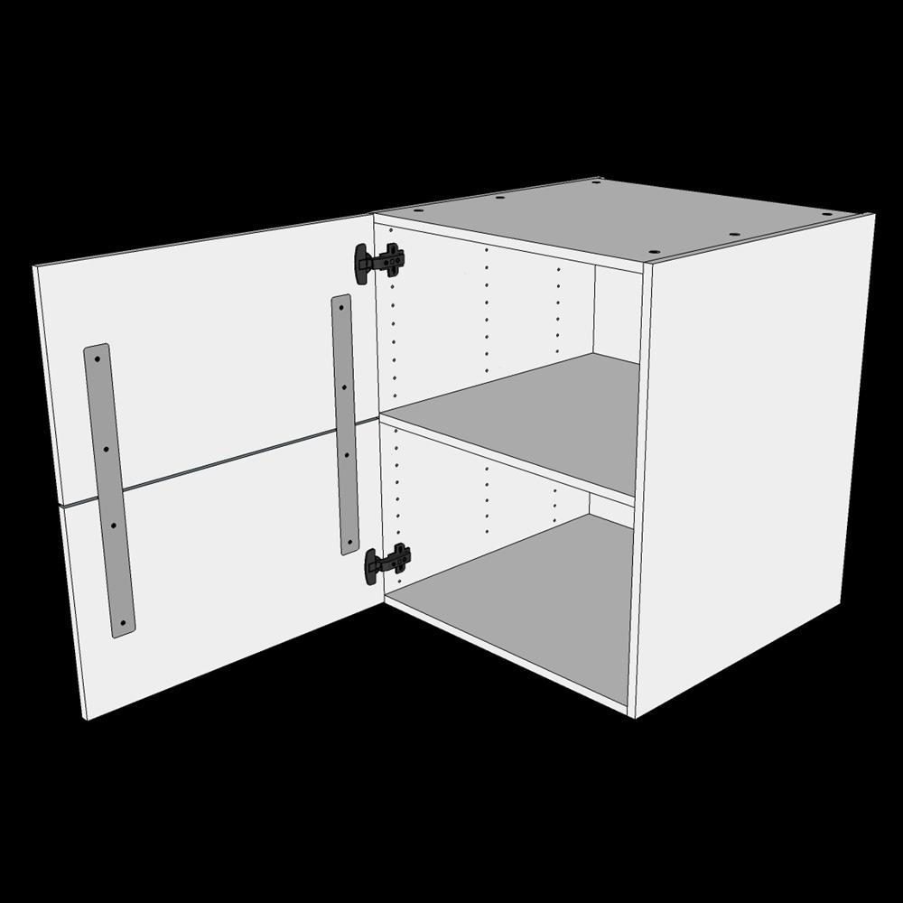 Image of   Hyldeskab H: 70,4 cm D: 60,0 cm - Inkluderet løs hylde & skuffe look
