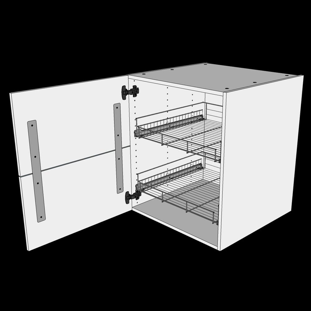 Image of   Grydeskab underskab H: 70,4 cm D: 60,0 cm - Inklusiv 2 udtræksriste & skuffe look