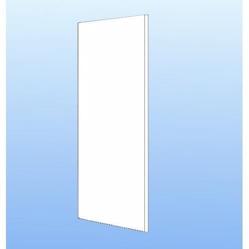 Image of   Gavlafdækning. Hvid melamin 195.2x60x1.6cm
