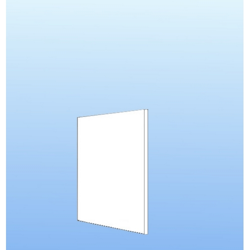 Integrerbar skabsgavl Hvid folie 57.6x32cm