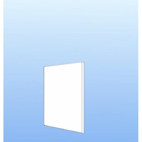 Image of   Integrerbar skabsgavl 57.6x32cm Hvid malet front