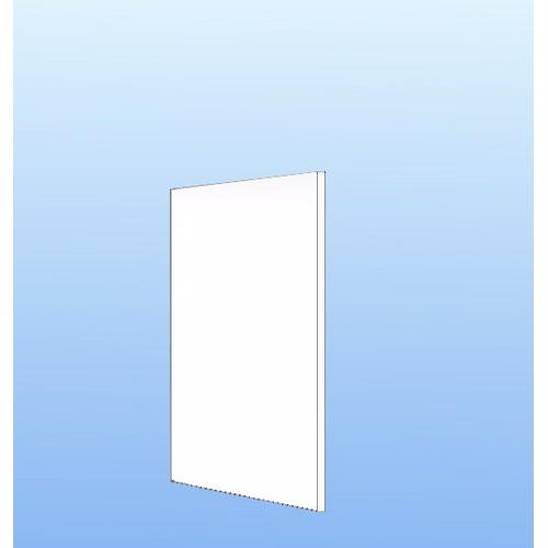 Image of   Integrerbar skabsgavl Hvid folie 131.2x58cm