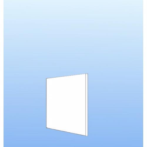 Image of   Integrerbar skabsgavl Hvid folie 32x32cm
