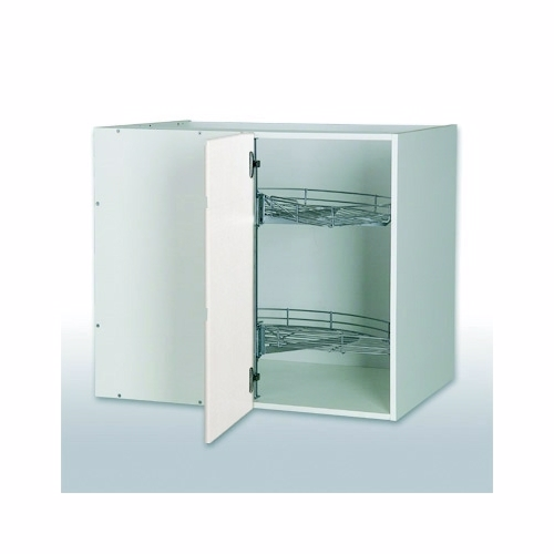 Billede af Hvid grebsfri hjørneskab b: 100cm. 2 x 1/2 karrusel