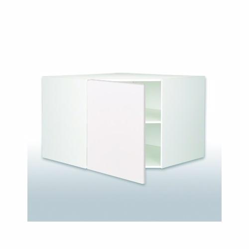 Hvid front diagonalskab 1 hylde 102,9 x 102,9 x 58cm.