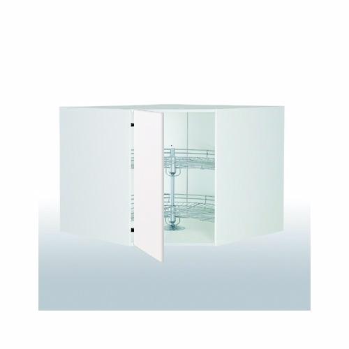 Hvid front diagonalskab 1 x 1/1 karrusel 102.9x102.9x58cm - Hjørneskabe - hvid front