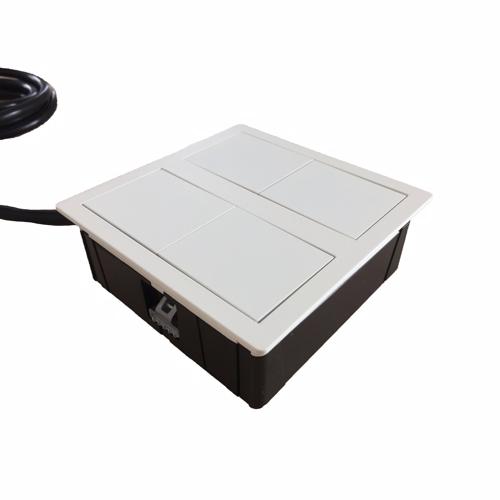 Image of   VersaHit Dual - Skjult modul med 2 stk. alm. strømstik